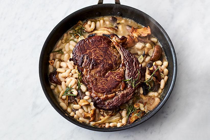 Jamie Oliver Kochbuch 5 Zutaten Riesiges Rib-eye-Steak