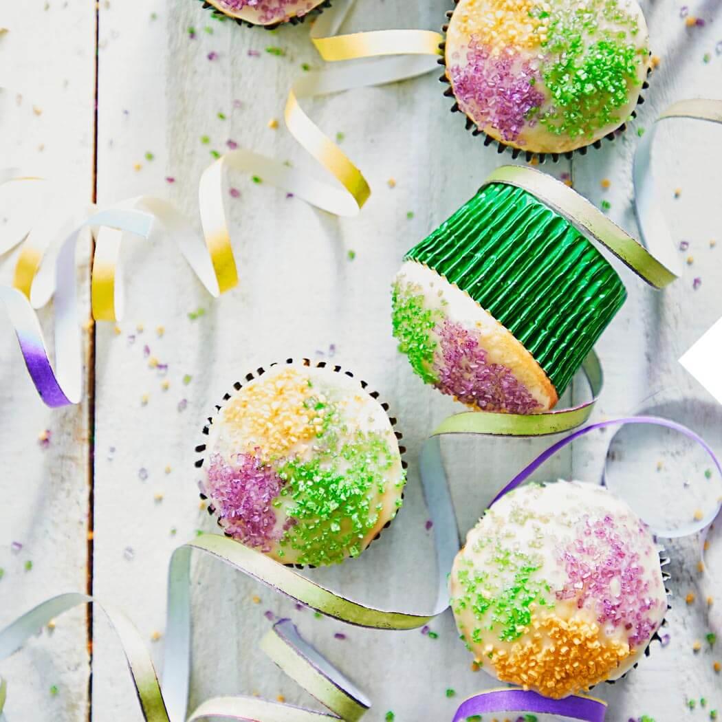 bunte Muffins backen Kindergeburtstag