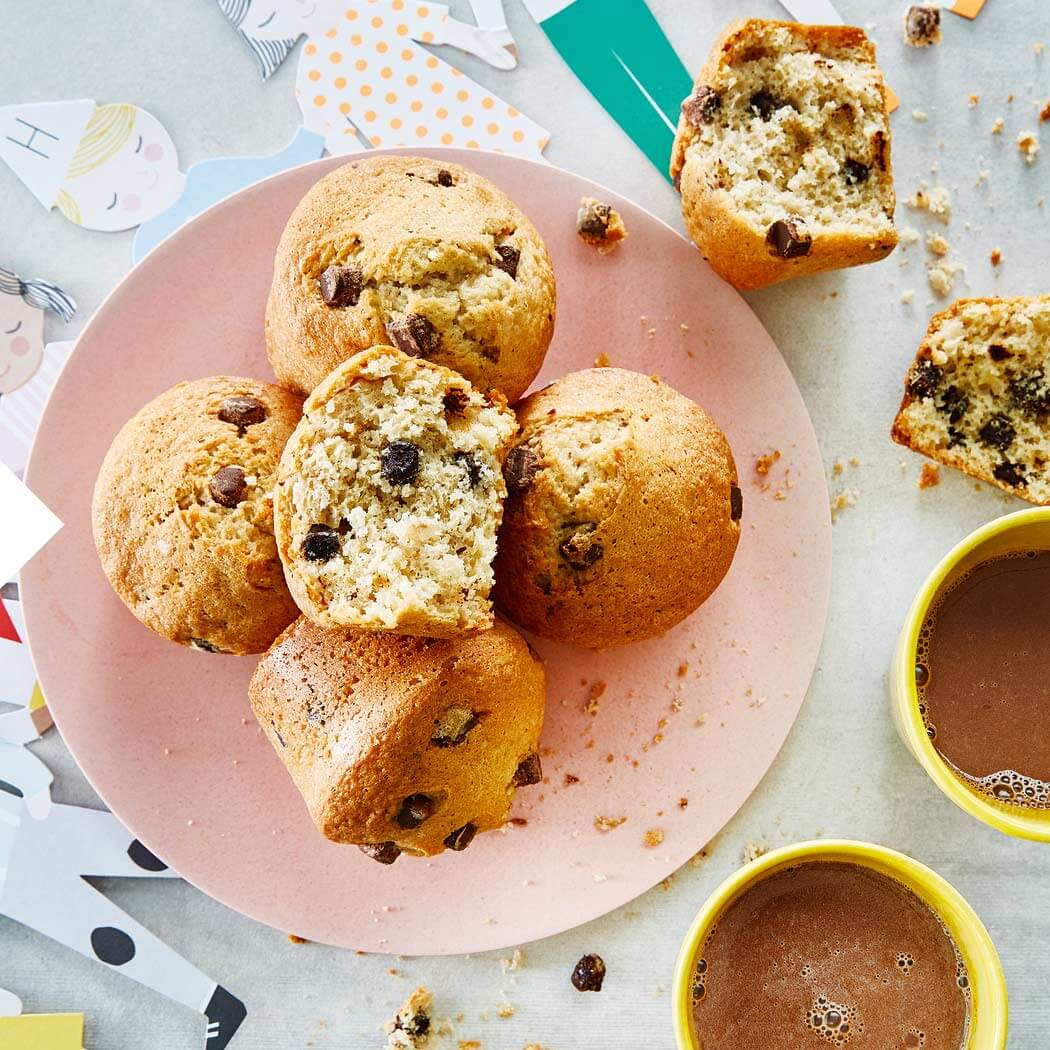 Muffins mit Schokolade backen Kindergeburtstag